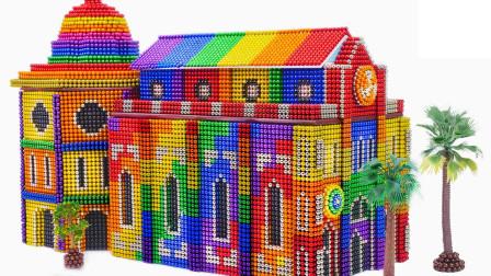 DIY-用巴克球建造中世纪佛罗伦萨大教堂,彩虹色更显逼格