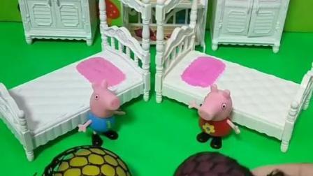 佩奇给乔治做发泄球!