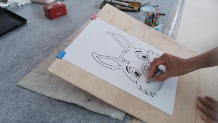 卡通兔子的画法示范