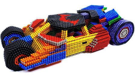 用巴克球玩具造一辆蝙蝠侠战车,新奇创意DIY,真厉害