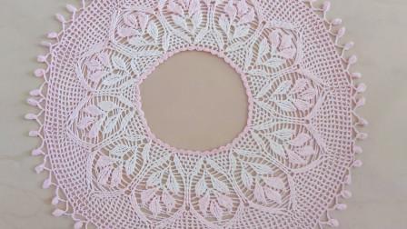 钩针豆芽罩衫二,6至14行的钩织方法,简单易学