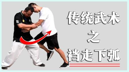 太极实用技术:何为裆下走弧,庞恒国老师示范了!你会吗?