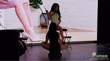 《春光娱乐》团队舞蹈模特组合,黑白双煞,商场高跟鞋品牌演出