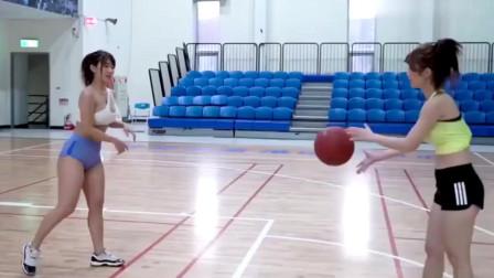 美女们打篮球,看看她们打的怎么样