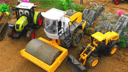 学习推土机等5种工程车辆 小马识交通工具