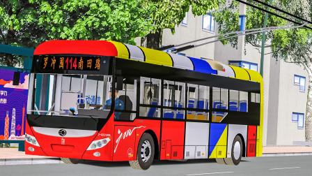 巴士模拟2:早点7分钟 驾驶无轨电车版宇通E10于广州114路 | OMSI 2 广佛市 114