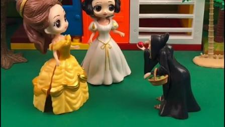 贝儿终于明白了,坏事都是巫婆指使的,告诉王后把巫婆关起来!