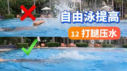 【自由泳提高】12.自由泳腿:打腿压水|梦觉教游泳