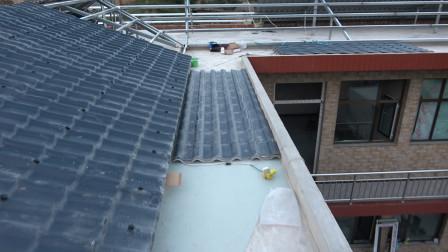 华子家做灰色树脂瓦房顶,盖好就不会漏水了,这房顶结实吗?