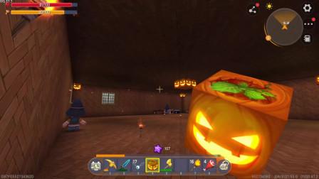 迷你世界橘子解说844:南瓜灯虽然不太亮,但是比火把好看啊