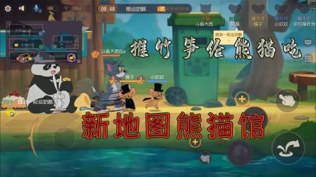 猫和老鼠392:新地图熊猫馆,可以推竹笋?碰到熊猫会吃掉