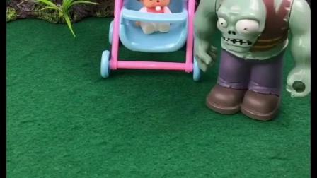 僵尸捡到了白雪的孩子,贝儿想拐走小雪儿,僵尸把贝儿轰走了!