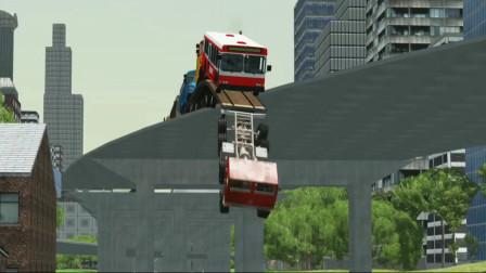 车祸模拟器109 背水离乡做生意货车超载坦克来拦截