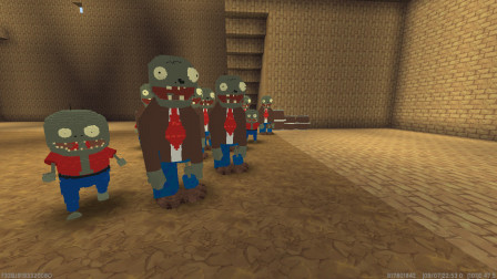 迷你世界:人类VS僵尸,小北能打败这么多僵尸吗?