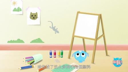 02怕孩子学不好绘画,一根棉签点出色彩创意