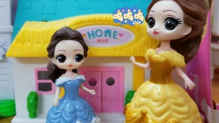 白雪公主故事 贝儿不小心弄坏了白雪的新玩具,主动承认了错误!
