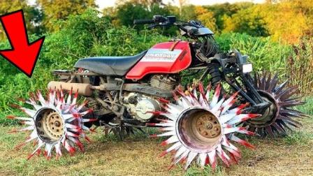 刺猬轮胎搭载越野车后,开到农村地里,惊人的一幕出现了!