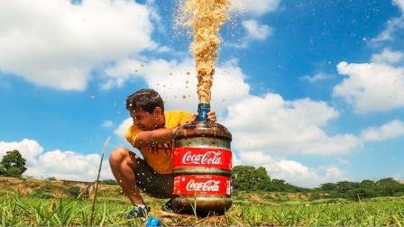 可乐遇上曼妥思就要发怒,老外偏要尝试,结果太酸爽了!