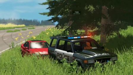 车祸模拟器111 高速行驶的汽车刹车失灵 Police帮你解决麻烦
