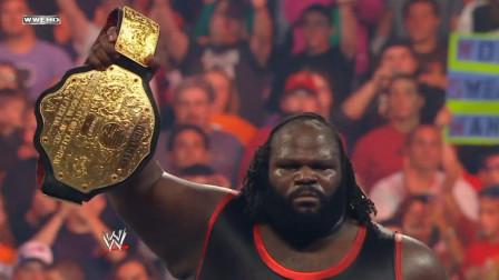 WWE冠军之夜马克亨利一战成名,痛扁兰迪奥顿勇夺大金腰带!