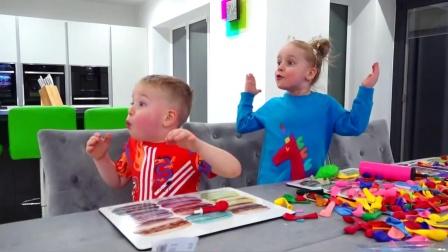 妈妈送给萌娃小可爱们四个萌萌的气球,气球里面可是藏着惊喜的哟!—萌娃:真有趣!