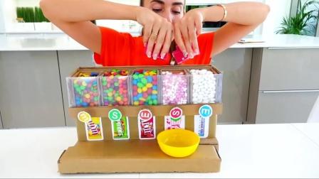 萌娃小可爱们想吃糖果得先帮妈妈做家务哟!—萌娃:做家务可是宝宝的拿手强项呢!
