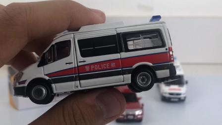 看一期少一期!【小张的模玩空间】tiny微影 香港冲锋车 消防队三菱