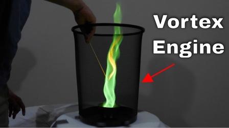 趣味实验:老外自制绿色火焰,太炫酷了!