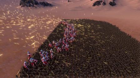 史诗战争模拟器:100个银河奥特曼VS5000名德军