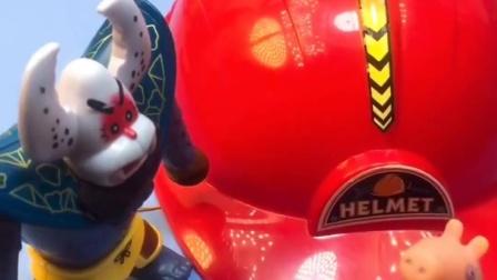 乔治捡到一顶安全帽,发现是巨人僵尸的,僵尸变成了建筑工人!