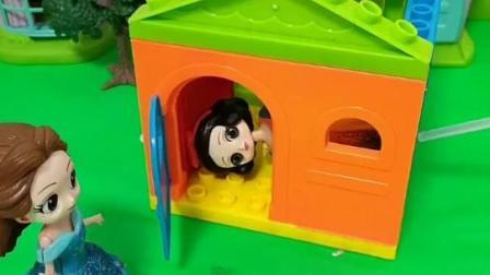 白雪藏到了贝儿搭建的小房子里,母后会找到她吗?
