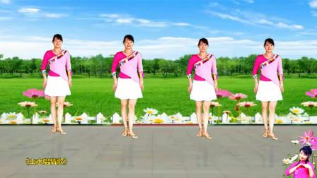 中老年简易16步广场舞《山水唱情歌》