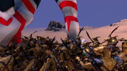 史诗战争模拟器:巨型欧布奥特曼VS5000个黄金蜥蜴人