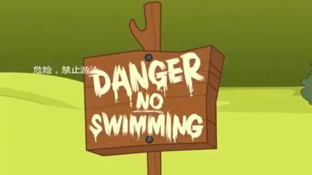 猫和老鼠杰瑞改了一个指示牌,差点害的汤姆,被鳄鱼吃了