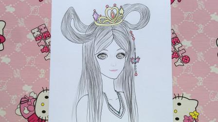 手绘精灵梦叶罗丽 画张简单的罗丽头像 小伙伴喜欢吗