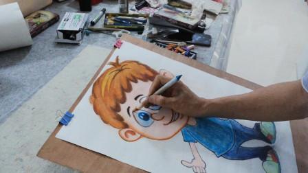 卡通人物画示范之二
