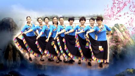 晓晓喜欢广场舞集体九人演示《传说》编舞応子廖弟