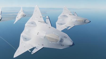 五架美军FAXX六代机,遭遇2艘国产7万吨航母,结局如何?作战模拟
