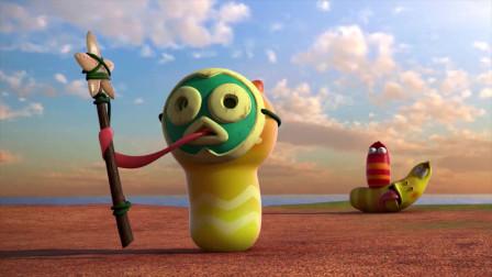 爆笑虫子:小黄大难关头,还不忘了吃,你可长点心吧