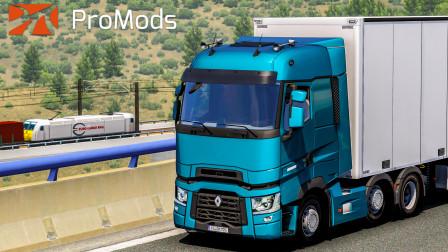 欧洲卡车模拟2 #346:驾驶DTi13发动机雷诺T于西班牙A3高速 | Euro Truck Simulator 2