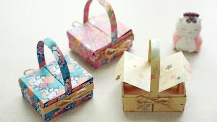 来折萌萌的迷你小饭盒,步骤也不难,可以当做收纳盒哦