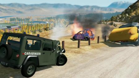 车祸模拟器116 拉矿的大卡车下山失控 撞毁了我的82年雷碧