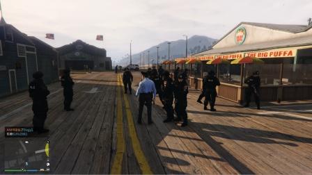 GTA5之我是警察03:接到报警称有恐怖袭击,特警队都出动了!