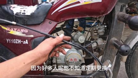 摩托车骑行半路离合器线断了怎么办?无需推车,教你直接就能骑行