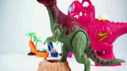 霸王龙吃恐龙蛋下小恐龙