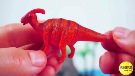 彩色豆豆里发现恐龙拼图
