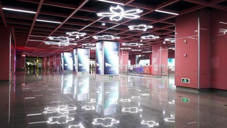 [2020.8]宁波轨道交通1号线 舟孟北路-樱花公园 运行与报站 换乘3号线过程