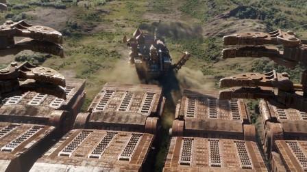 未来世界资源短缺,人类建造移动城市,四处掠夺周围资源