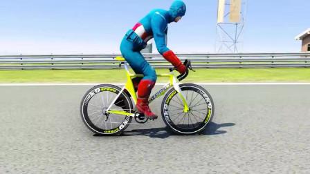 蜘蛛侠:所有超级英雄自行车比赛!