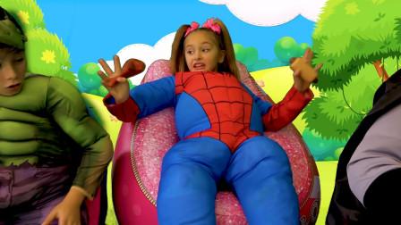 萌娃变身成超级英雄去拯救遇到困难的人们,萌娃:怎么成了大胖子